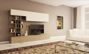 pareti sala da pranzo parete soggiorno moderna con libreria design larice grigio e