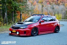 subaru wrapped red wrx u2013 i love driving slow