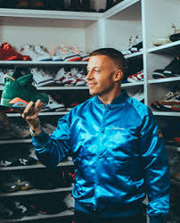macklemore shows off his fire sneaker closet