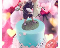 rugby cake topper etsy