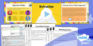 what is light in science light refraction year 6 lesson pack 3