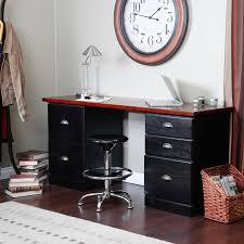 Corner Computer Workstation Desk by Furniture Black Desk With Drawers For Magnificent Home Office