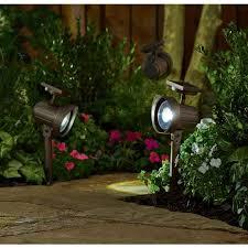 Brightest Solar Powered Landscape Lights - better homes and gardens solar powered adjustable spotlight brown