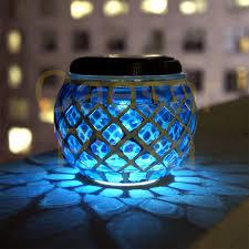 Outdoor Solar Lamp Post by 6 Outdoor Garden Solar Mosaic Glass Ball Landscape Path Lights