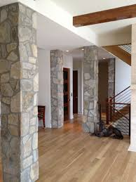 interior columns for homes create that interior accent in the kitchen wineroom
