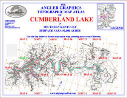cumberland lake map angler graphics