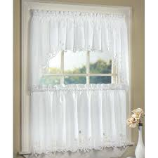 White Cafe Curtains Tiebacks For Curtains Slider Door Curtains Bay Window Curtain Rod
