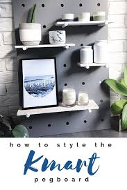 kmart pegboard how to style it urban box and house