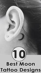 half moon on back of ear