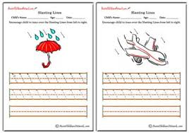 slanting lines worksheets left to right aussie childcare network