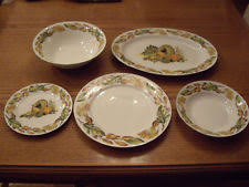 american atelier pumpkin harvest 5733 stoneware china service for 8