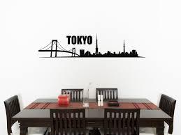 tokyo skyline living room dining kitchen bedroom decal wall art