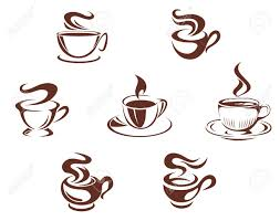 coffee cups and mugs symbols isolated on white background royalty