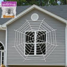 halloween decoration giant spider web window decor with stretch