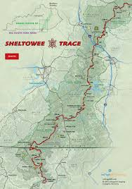 Continental Divide Map Sheltowee Trace South Trail Map Includes Big South Fork