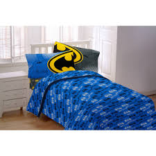 Furniture Items For Home Batman Glowing Bat Symbol Twin Bedding Sheet Set Walmart Com