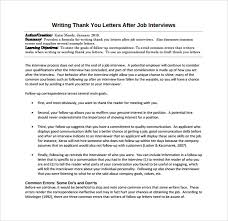 Follow Up Letter After Sending Resume Sample Of A Thank You Letter After Second Job Interview Shishita