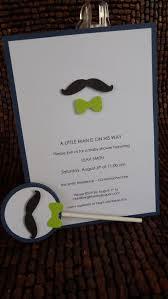 mustache invitations mustache and bow tie baby shower invitation by inkglittlerandpaper
