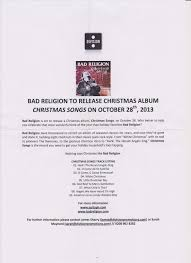 christmas songs discography the bad religion page since 1995