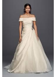 jewel taffeta wedding dress with brooch david u0027s bridal