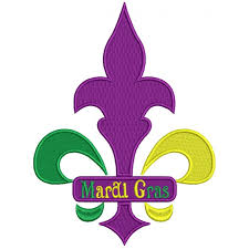 fleur de lis mardi gras mardi gras sign fleur de lis filled machine embroidery design