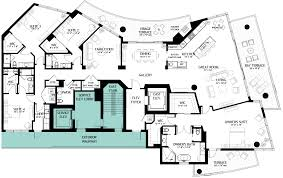 Centralized Floor Plan by Luxury Penthouses In Tampa For Sale The Virage Condos On Bayshore