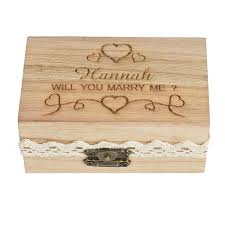 Wedding Engraved Gifts Personalized Engraved Gift Rustic Wedding Ring Bearer Ring Box