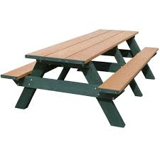 recycled plastic picnic tables 8 ft recycled plastic rectangular picnic table portable by park