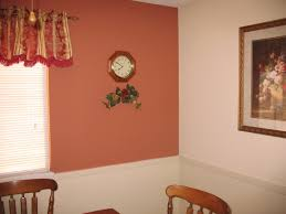 fresh elegant paint color with terracotta tile 11588