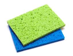 kitchen sponge kitchen color sponge isolated on a white background stock photo