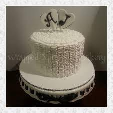 1 year anniversary ruffle cake cakecentral com
