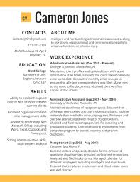 Best Resume For Executive Assistant by Student Resume Template 2017 Resume Builder