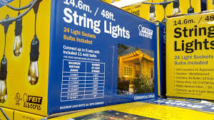 Strings Of Lights For Patio by Feit 48 Ft Outdoor String Lights Costco Weekender