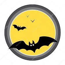 bats flying over full moon halloween vector illustration u2014 stock