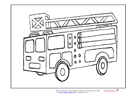 colouring pictures of fire engines
