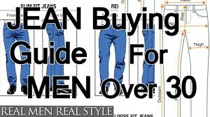 buying jeans for men over age 30 how to buy denim for older guys