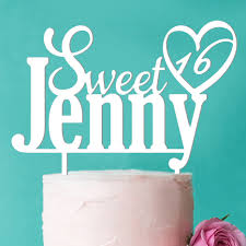 heart cake topper sweet 16 heart personalized cake topper personalized wedding