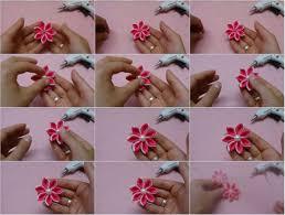 kanzashi hair pin diy kanzashi hair clip tutorial usefuldiy