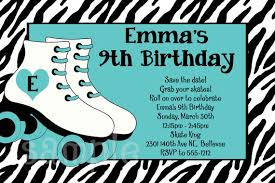 free printable zebra birthday cards nice roller skating birthday invitations ideas download this