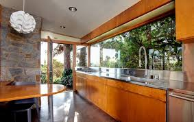 Midcentury Modern Kitchens - lovely mid century modern galley kitchen clean neutral lines in a