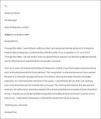 awesome collection of how to make a resignation letter for work