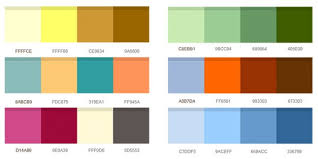 colors combinations set of color combinations psd file free download
