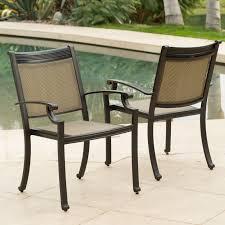 Outdoor Sling Chairs Belham Living San Miguel Cast Aluminum 7 Piece Patio Dining Set