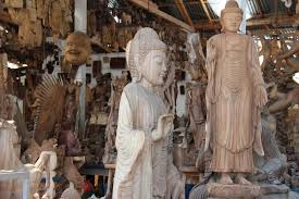 wood carving ubud now then