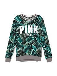 secret pink sweater s secret pink palm tropical summer varsity boyfriend