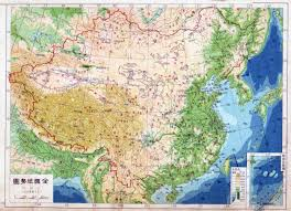 Map Of China by Large Detailed Physical Map Of Map Of China In Chinese U2013 1948