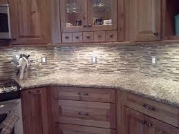 Gray Glass Backsplash by Kitchen Astounding L Shape Kitchen Decoration Using Birch Wood