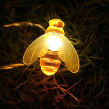 battery led string lights battery operated bee shaped 3m led string lights holiday decorative