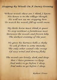 Poem About Halloween Stopping By Woods On A Snowy Evening Robert Frost Watched A