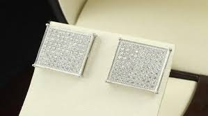 back earrings for men men womens sterling silver 925 square earrings with backs